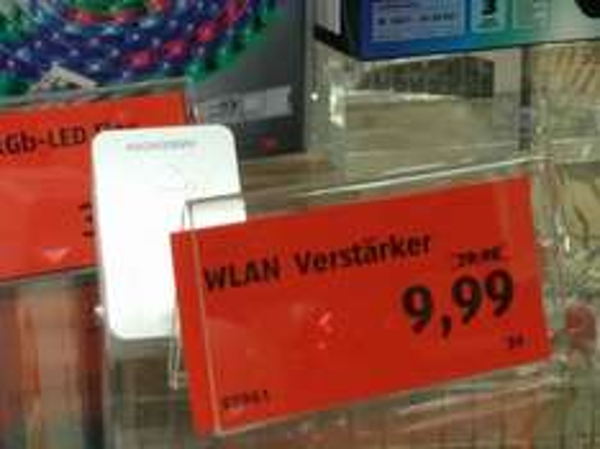 Aldi Süd: Wifi Repeater zum halben Preis - 9,99 statt 19,99! (Medion MD 87119 /E 85029 & LOKAL gesehen in München, Sendling)