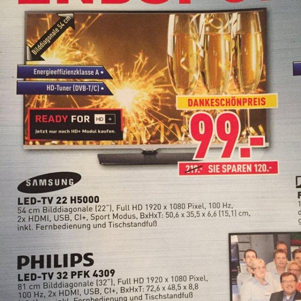 [Dodenhof in Posthausen] Samsung LED-TV UE-22 H5000
