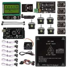 Ramps 1.4 + A4988 + Mega2560 R3 + LCD 12864 3D Printer Controller Kit For RepRap 136€ @sainsmart
