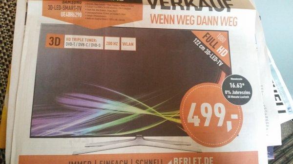 [LOKAL] Herne - Samsung 3D LED TV UE48H6290 für 499€ bei Berlet