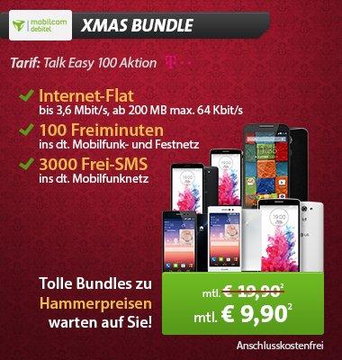 [Sparhandy] Talkline (D1-Netz) über MD (100min / 3000SMS / 200MB) + Huawei Ascend P7 (weiß/schwarz) -> quasi kostenlos