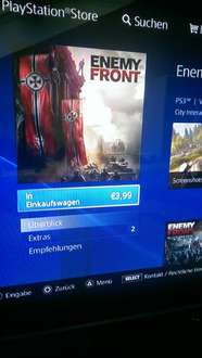 Enemy Front PS3 im Playstationstore