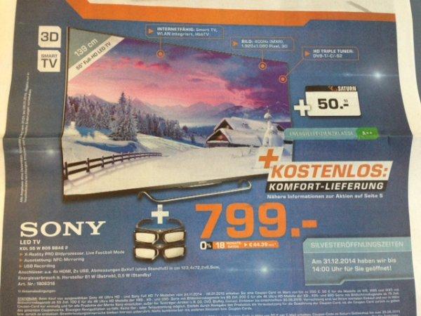 [lokal Saturn Köln, Rhein-Sieg-Kreis] Sony KDL 55 W 805 BBAE 2, 749€ durch 50€ Gutscheinkarte
