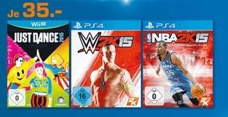 [Lokal: Saturn Ingolstadt] PS4: WWE2K15 und NBA2K15 für 35 €