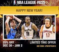 NBA League Pass für ca. 62€ bis 02.01.15