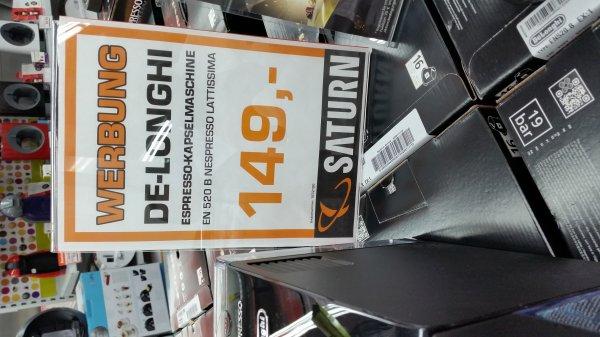 [Saturn Isernhagen - Lokal?!] Nespresso Latissima + (EN 520b) für einen Knaller,  Mega,  Hammer Preis + €70 cashback