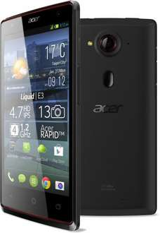 "[WHD] Acer Liquid E3 Plus (4,7"" 720p, Quad-Core, 2GB RAM, 16GB, 13MP, Dual-SIM) für 124,38€ statt 145,22€"