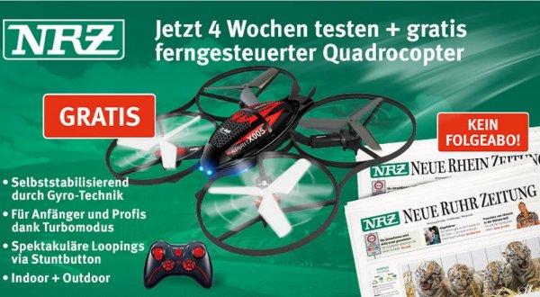 4 Wochen 'Neue Ruhr Zeitung' + Quadrocopter 'Spirit X005' [Lokal] 18,90€