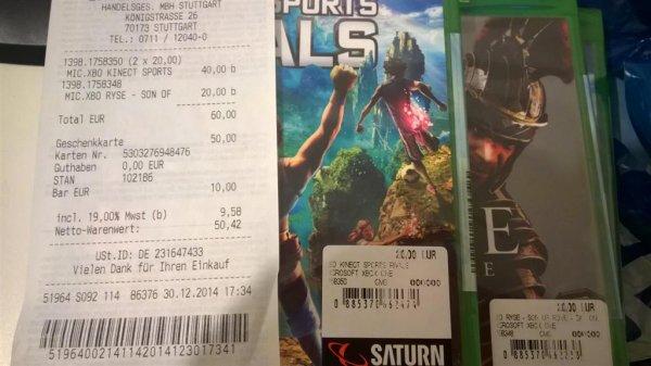 Saturn Stuttgart Xbox One Spiele 20€