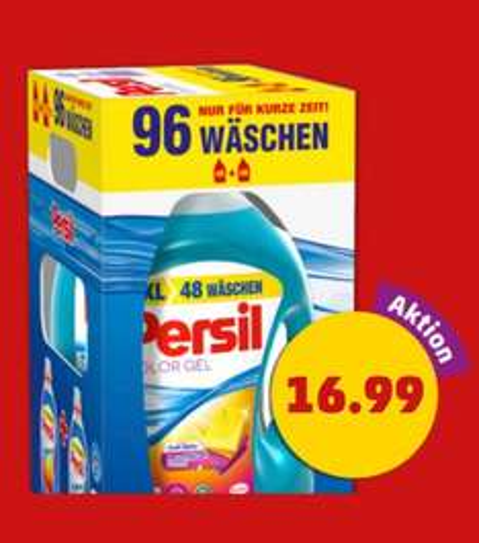 Persil Voll- oder Colorwaschmittel Gel 2x 3,504ml Flasche (1l= 2,42€)