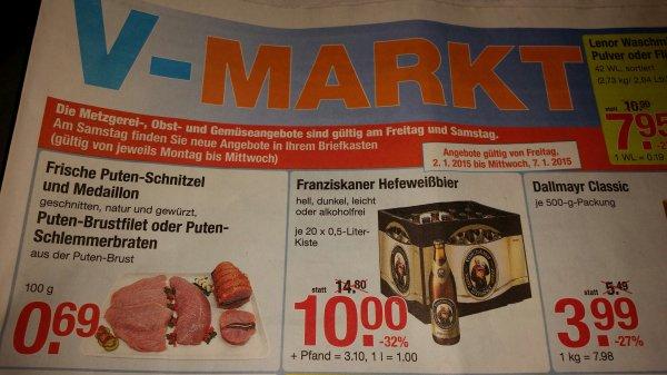 [V-Markt] Franziskaner Weißbier 10 € (+3,10 € Pfand)