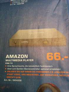 [Lokal?] Amazon Fire TV 66€ @ Saturn Hamburg