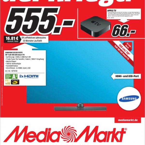 [Lokal Media Markt Düsseldorf] Samsung UE 58 H 5273 für nur 555€