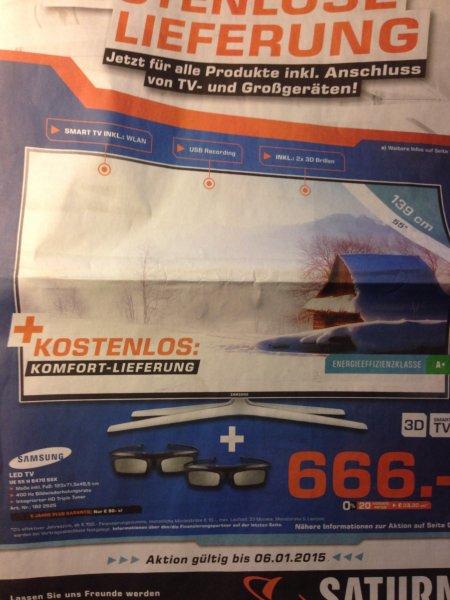 (lokal) Saturn Dortmund, Lünen, Soest - Samsung UE55H6470 SSX für 666€