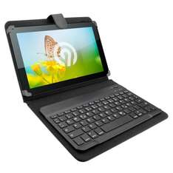 "NINETEC Keyboard Case 10"" Bluetooth Ebay WOW"