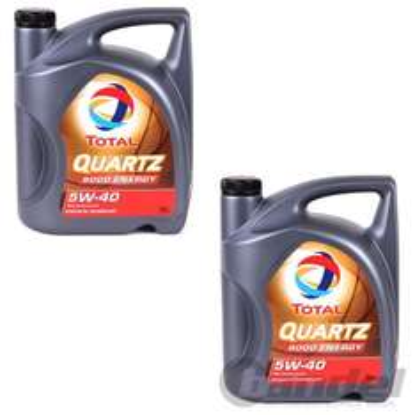2x 5 Liter Motoröl SAE 5W-40 TOTAL Quartz 9000 Energy