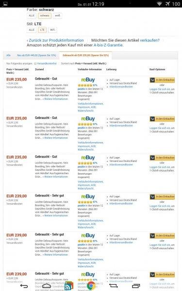 Samsung Galaxy Tab Pro 8 LTE 16 GB für jeweils 238,99 € bis 242,99 € Vgl 409,90 €