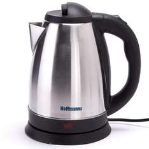 Edelstahl Wasserkocher Hoffmanns Teekocher 1800 Watt mit 1,7 Liter 360° Drehbar (eBay)
