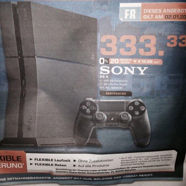 PlayStation 4 am 02.01.2015 Saturn Aachen 333,33€ (0% Finanzierung möglich)