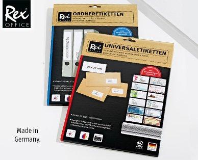 Klebeetiketten  - Ordneretiketten - Universaletiketten - je Packung 2,99 € - ab 2.1.2015 - Aldi Süd