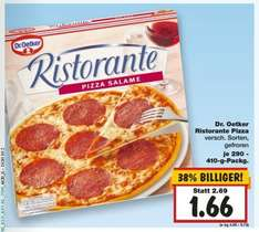 [KAUFLAND (nord+west)] KW02: Dr. Oetker Ristorante Pizza für 1,66€