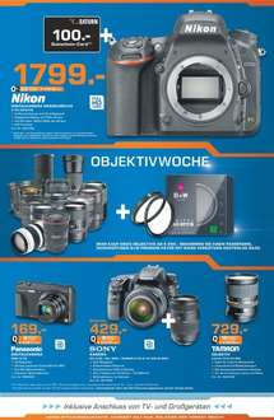 [Sammeldeal lokal] Saturn Wolfsburg, z.B. Nikon D750 inkl. 100€ Gutschein für 1799€