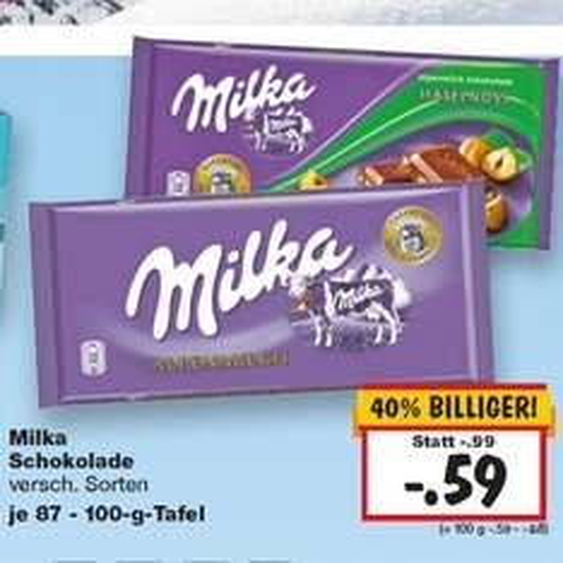 Milka Schokolade billig KW 02 [Kaufland]