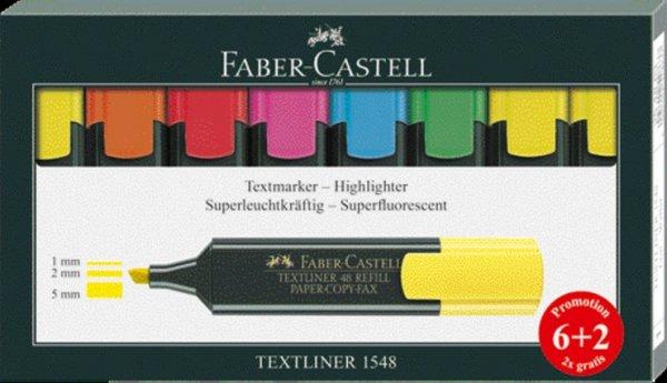 [McPaper, Offline] Faber-Castell Textmarker 6+2, für 2,99, statt 6,49