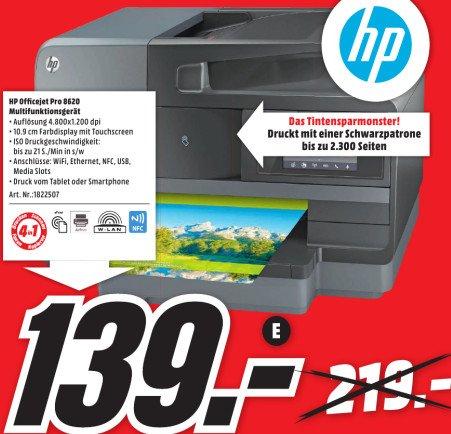 MediaMarkt Berlin HP Officejet Pro 8620 4-in-One Drucker, Duplex, Wifi, Scan to Network