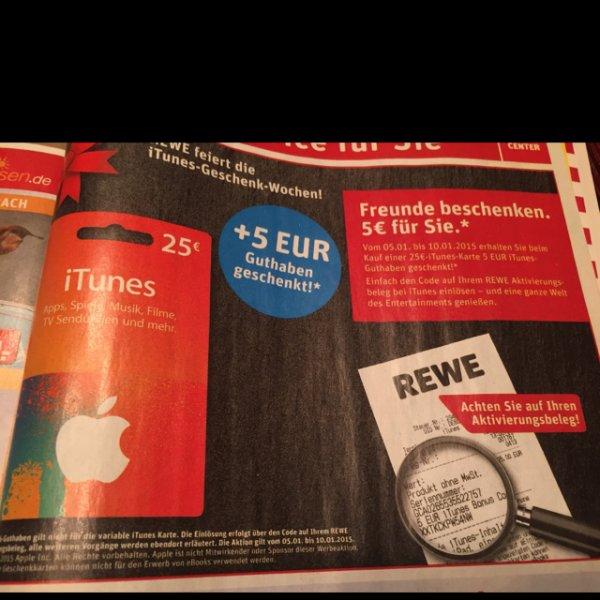 [REWE offline] iTunes 25€ + 5€ geschenkt