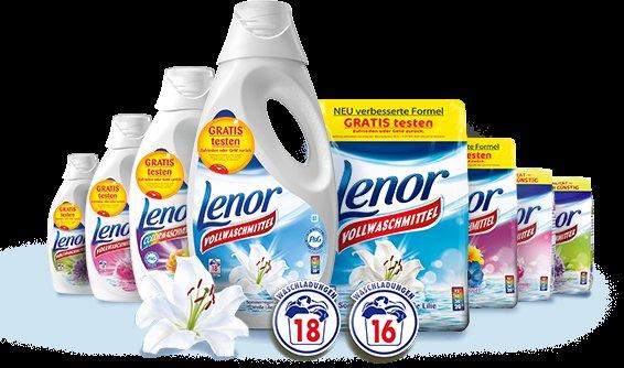 GRATIS testen....Lenor Waschmittel 16/18 WL vom 02.01 bis zum 31.03.15 (Testwochen)