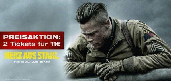 """[Bonn] [Kinopolis] Zu zweit für nur 11,00€* in """"HERZ AUS STAHL"""" mit Brad Pitt"""