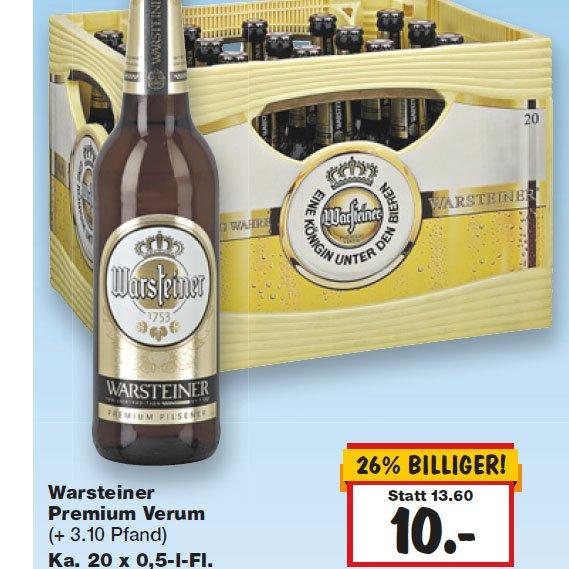 Das einzig Wahre - Warsteiner Bier - Kiste für nur 10€! [Kaufland]