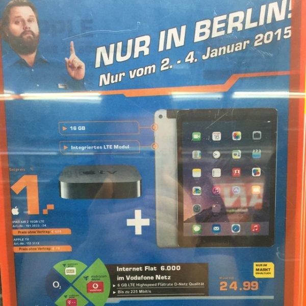 [Saturn am Alex in Berlin] iPad Air 2 + Apple TV mit Vodafone 6 GB Datenvolumen mit 1,- Zuzahlung und 24,99 monatlich