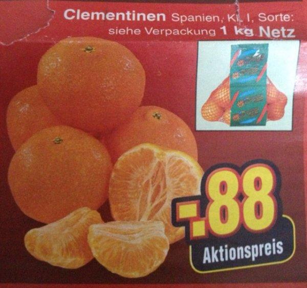 [Netto Ohne Hund] Clementinen 1kg = 0,88€