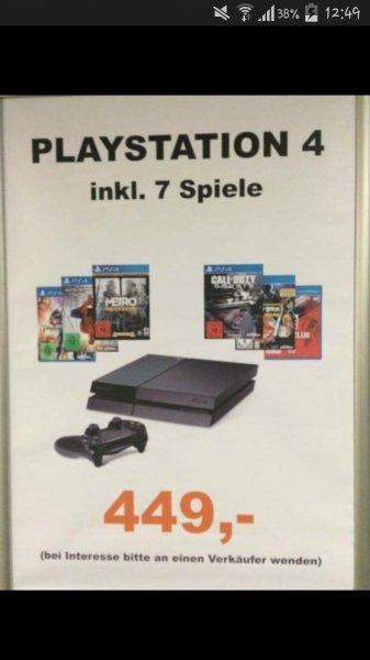 [Saturn Tübingen] PS4 mit 7 Spielen für 449 €