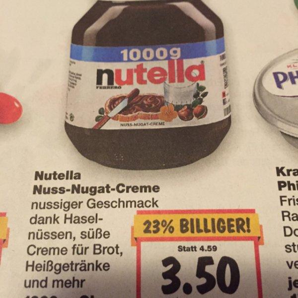 1kg Nutella bei Kaufland Radolfzell