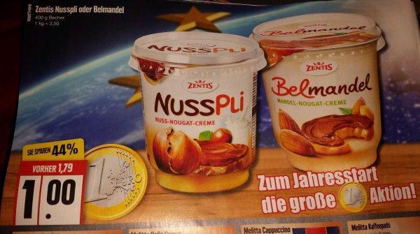 [Edeka Nord] Zentis Nusspli oder Belmandel 400g für 1€
