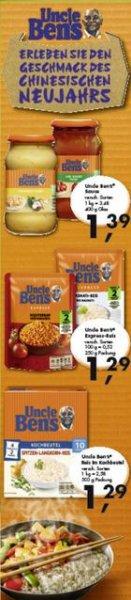 Bundesweit? SKY: 10 Min. Uncle-Ben`s Reis in Kochbeutel für 0,29 € mit Gutschein