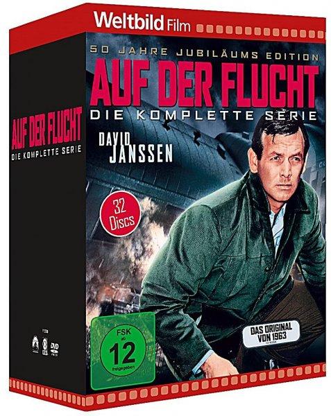 Weltbild (online): Auf der Flucht 32 DVD-Box - Die komplette Serie für nur 59,99 Euro
