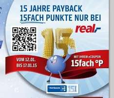[PAYBACK] [REAL BUNDESWEIT] 15 FACH PUNKTE eCOUPON