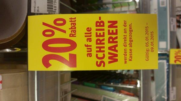 [Rossmann] 20% auf alle Schreibwaren (10%-Coupon verwendbar)