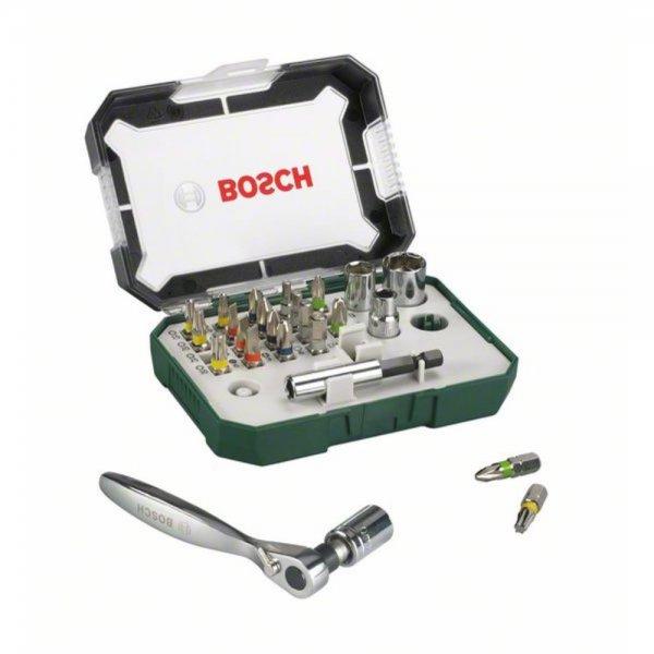 Bosch Schrauberbit- und Ratschen-Set, 26-teilig 15,99 inkl. Versand bei svh24.de