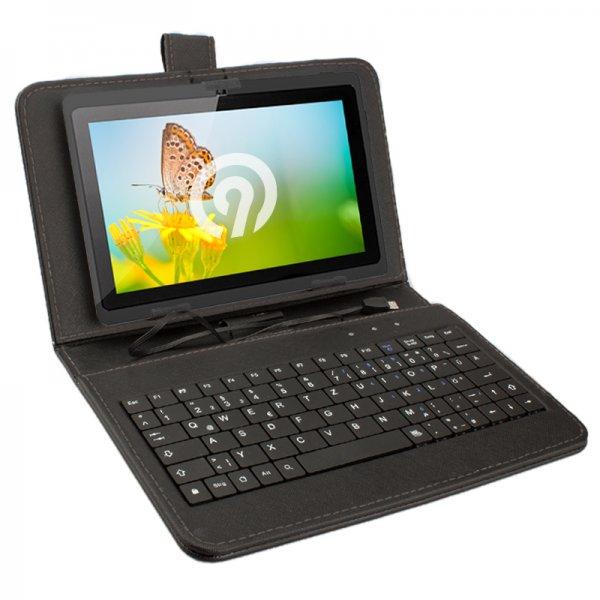 Für 9,99 € Hülle NINETEC incl.Tastatur über Micro USB z.B. für HP Stream 7 Edition