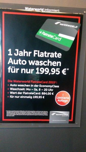 Waterworld Aschaffenburg Flatrate Auto waschen (Lokal)