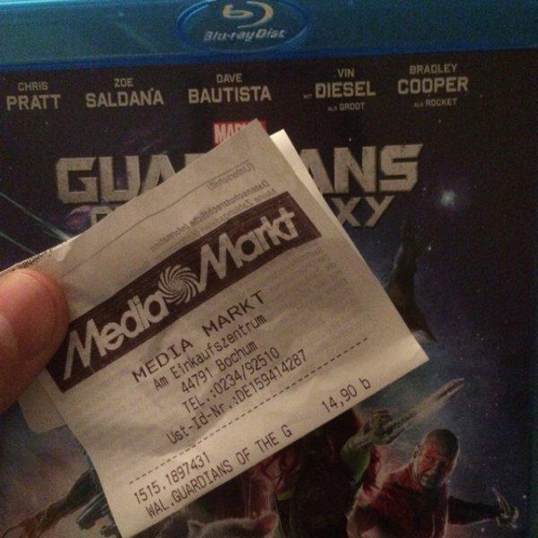 [lokal] Media Markt Bochum RuhrPark- Guardians of the Galaxy (blu ray) - schon heute für 14,90€