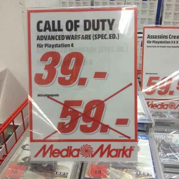 [lokal MM Berlin-Schöneweide] Call of Duty: Advanced Warfare PS4 bei Media Markt - 39 EUR