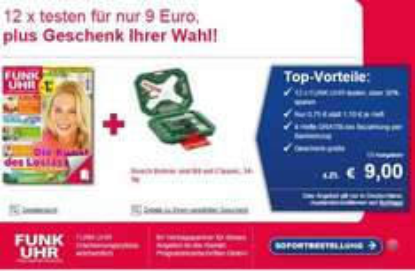 Bosch Bohrer und Bitset 34-teilig (bei Probeabo 12x bzw. 20x Funkuhr)