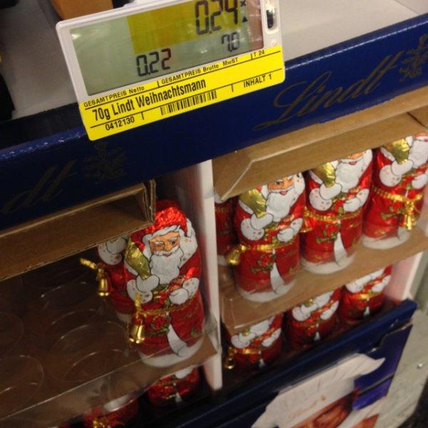 [METRO Hamburg Rahlstedt] Lindt Weihnachtsmann 70g für 0,24€
