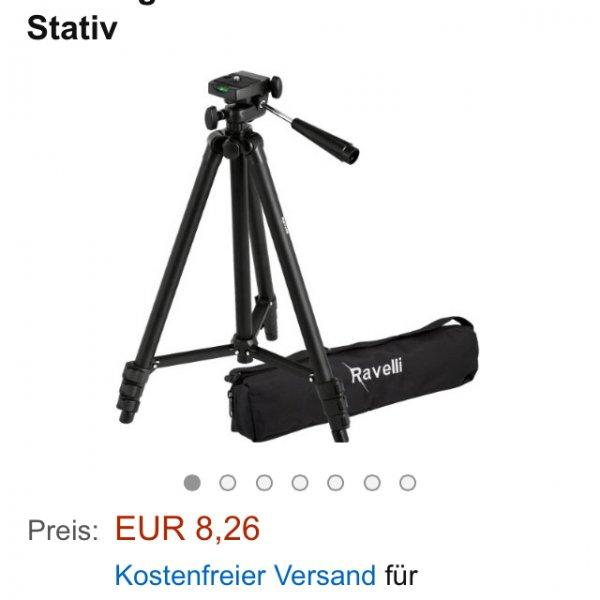 """Ravelli Photo APLT2 Kamera Stativ 127cm (50"""") Kamerastativ mit Tragetasche Leicht Gewicht Stativ für 11,26€ bzw. 8,26€ mit Amazone Prime"""